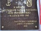 Odsłonięcie tablicy Nauczycieli TON w Stąporkowie